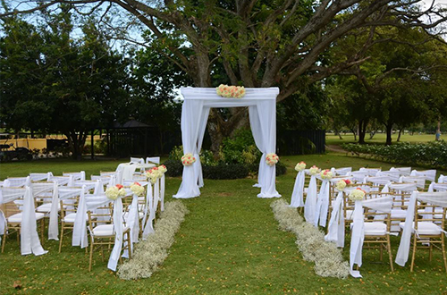 Ceremony at Golf Lawn *this location is available for rental only