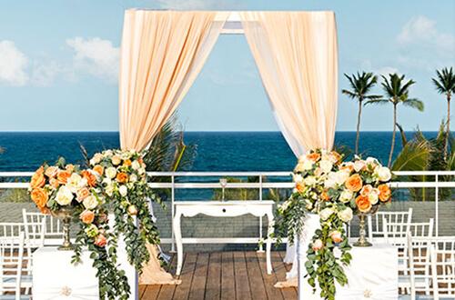 Sky wedding rooftop terrace